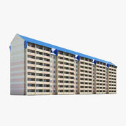 9-Story Residential Building 3d model