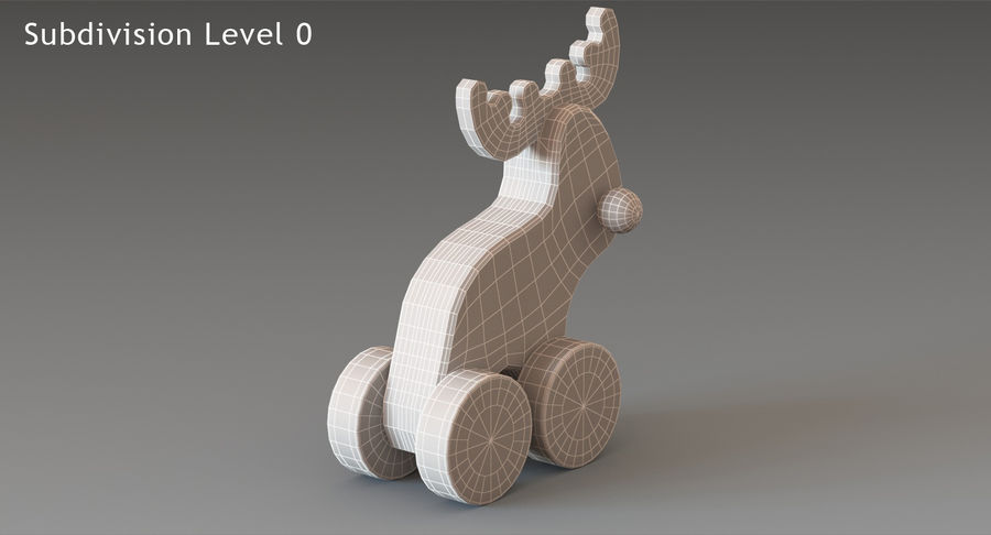 Łoś zabawkowy royalty-free 3d model - Preview no. 14