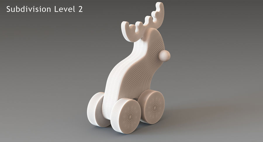 Łoś zabawkowy royalty-free 3d model - Preview no. 16