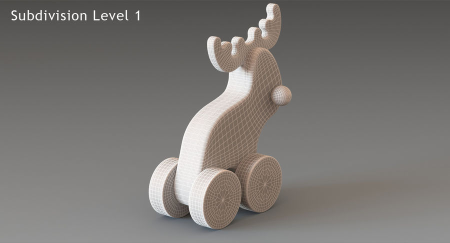 Łoś zabawkowy royalty-free 3d model - Preview no. 15