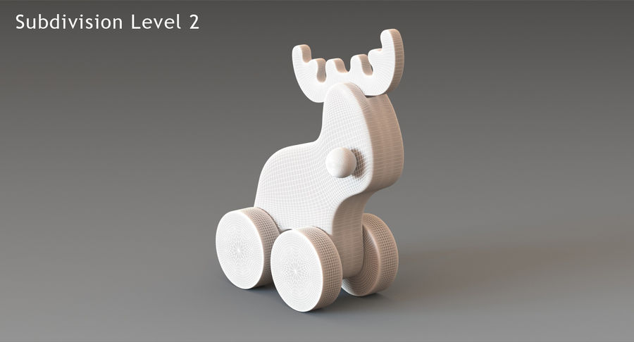 Łoś zabawkowy royalty-free 3d model - Preview no. 19