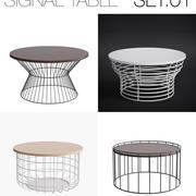 Zestaw tabel sygnałów 01 3d model