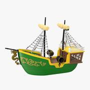 Toy Sailboat 3 3d model