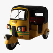 Auto Rickshaw Low Poly 3d model