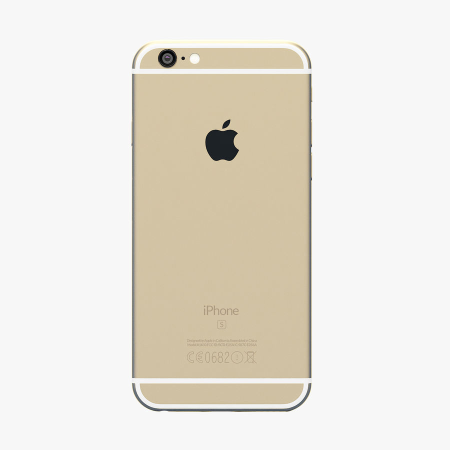 iPhone 6S Or royalty-free 3d model - Preview no. 5
