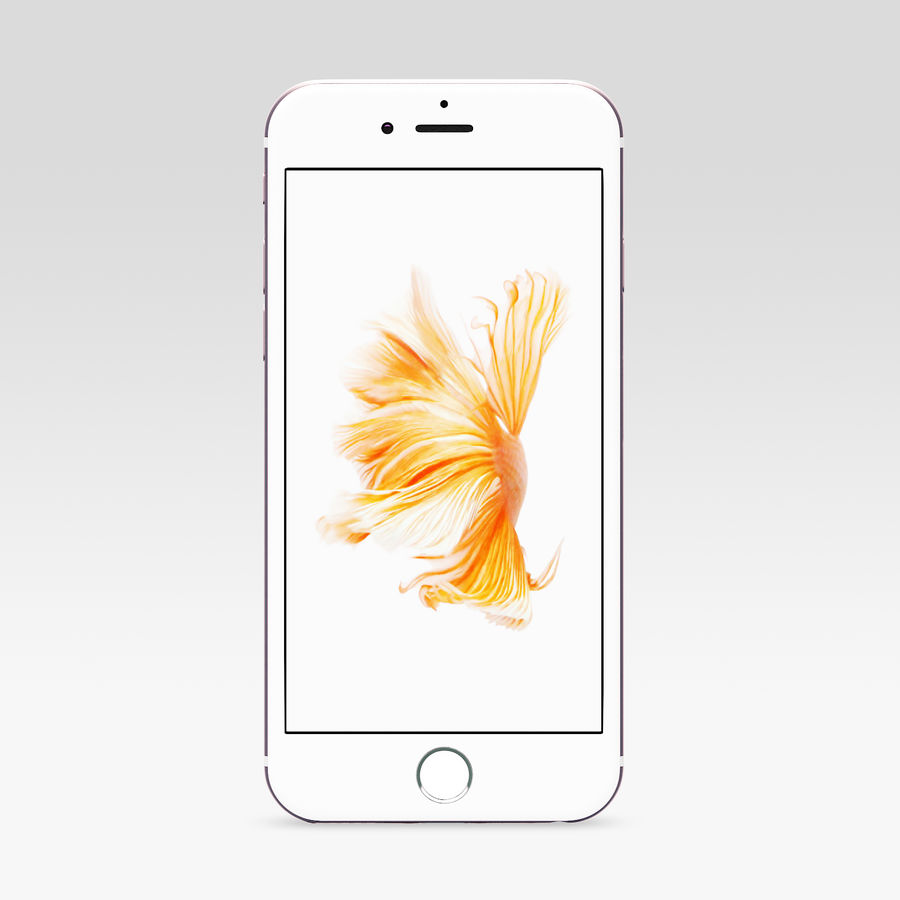 iPhone 6S Rose Gold royalty-free 3d model - Preview no. 2