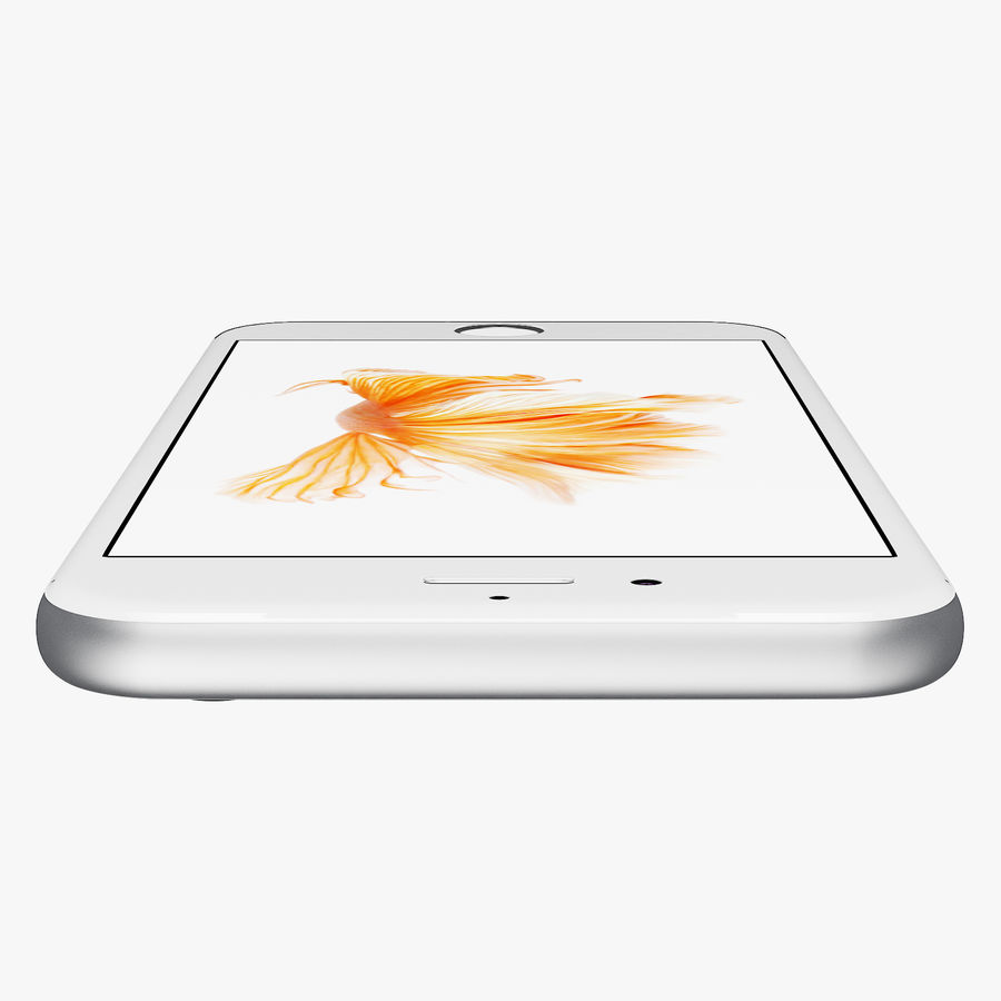iPhone 6S Prateado royalty-free 3d model - Preview no. 7