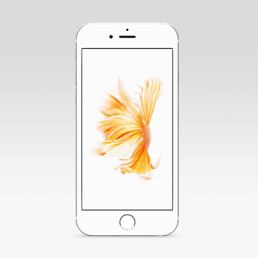 iPhone 6S Prateado royalty-free 3d model - Preview no. 2