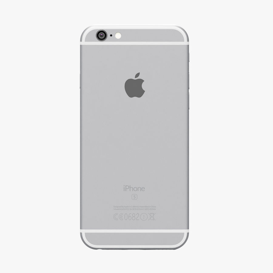 iPhone 6S Prateado royalty-free 3d model - Preview no. 5