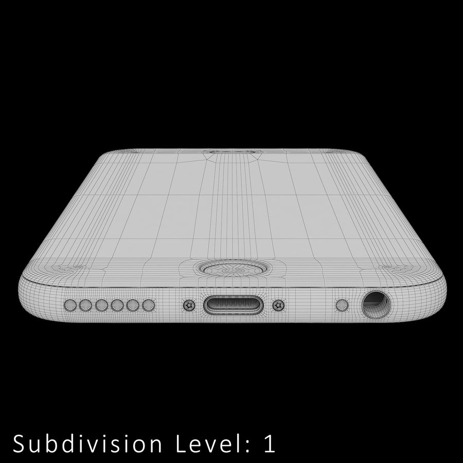 iPhone 6S Prateado royalty-free 3d model - Preview no. 19