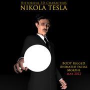 Nikola Tesla 3D Model Rigged 3d model