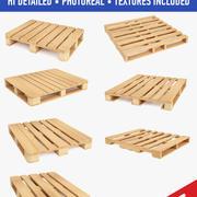 Пакет деревянных поддонов 3d model