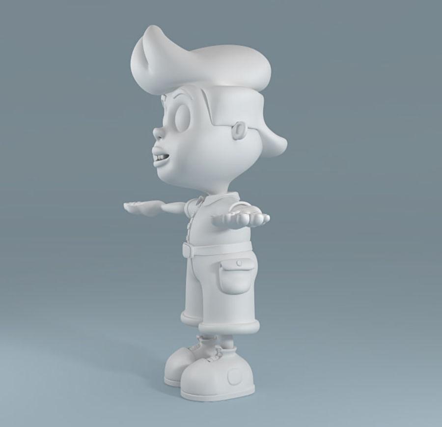 Garçon de dessin animé royalty-free 3d model - Preview no. 3