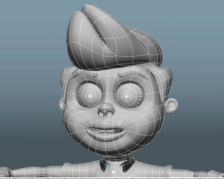 Garçon de dessin animé royalty-free 3d model - Preview no. 6