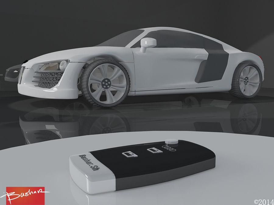 アウディR8 royalty-free 3d model - Preview no. 3