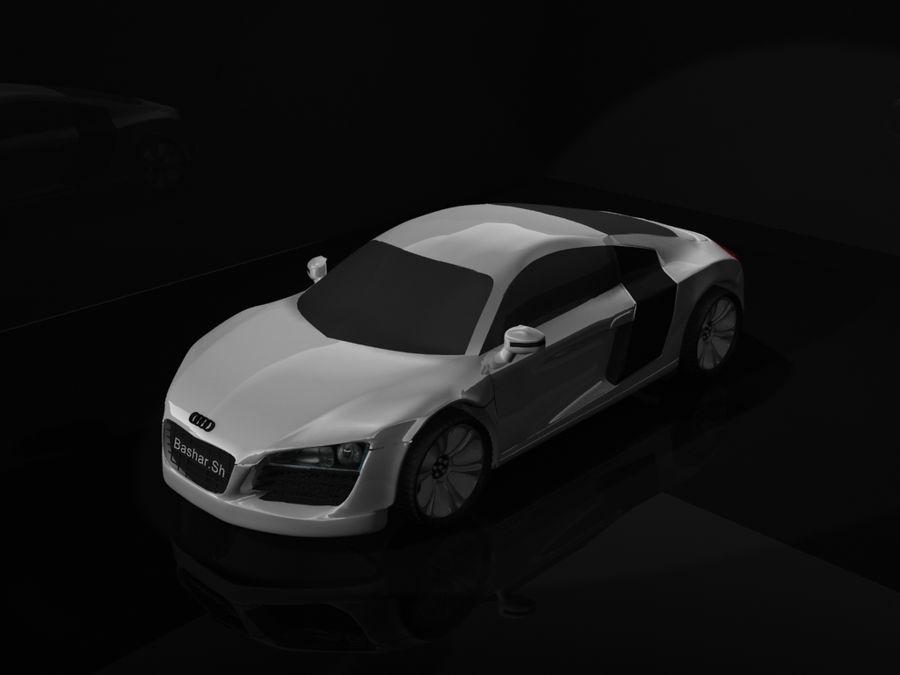 アウディR8 royalty-free 3d model - Preview no. 1