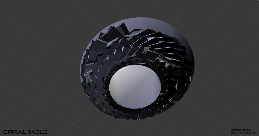 Table en spirale en cristal royalty-free 3d model - Preview no. 14