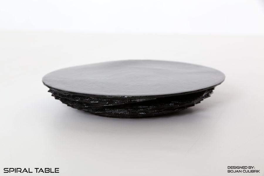 Table en spirale en cristal royalty-free 3d model - Preview no. 1