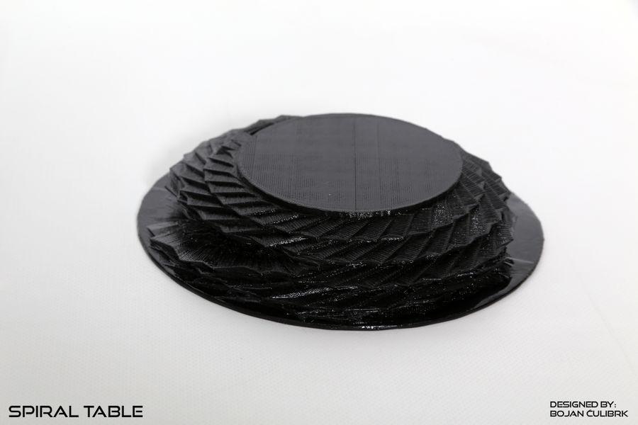 Table en spirale en cristal royalty-free 3d model - Preview no. 4