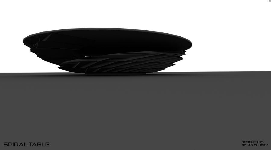 Table en spirale en cristal royalty-free 3d model - Preview no. 5