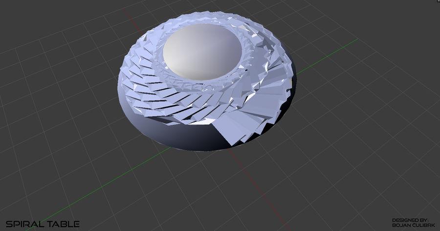 Table en spirale en cristal royalty-free 3d model - Preview no. 16