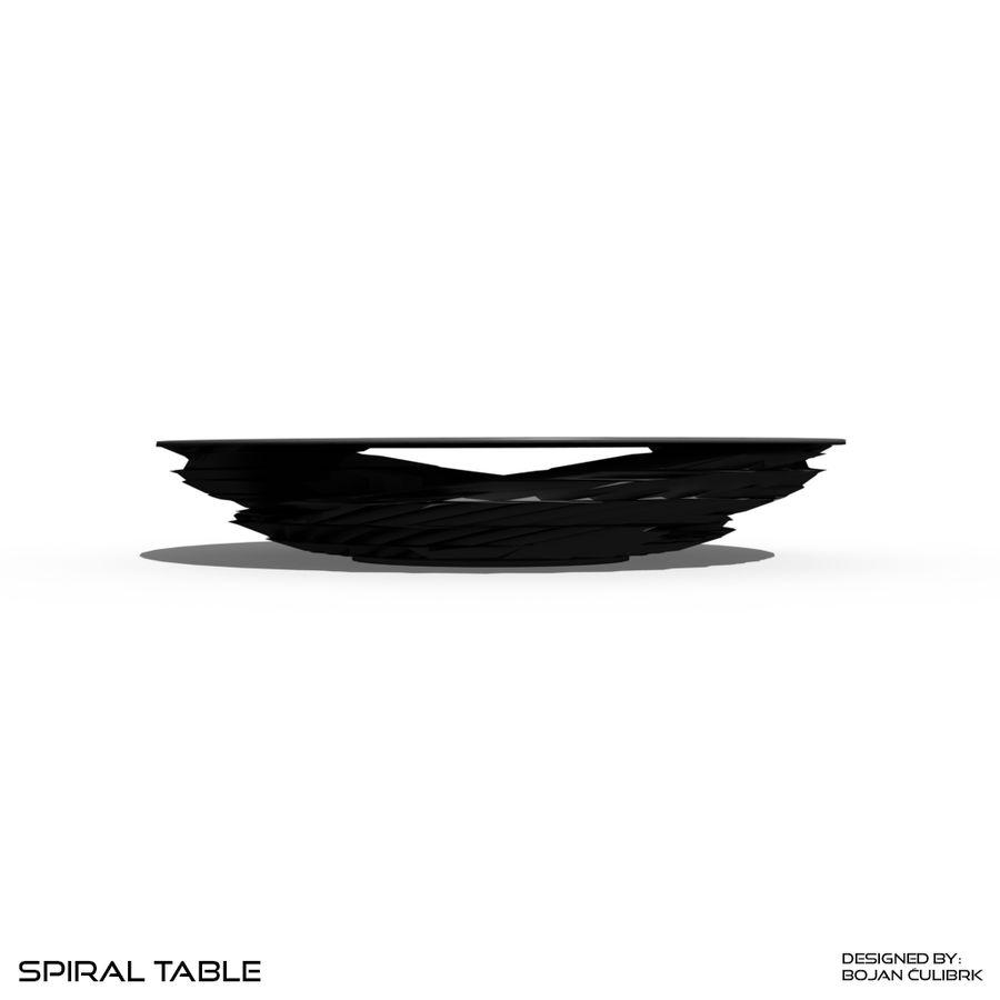 Table en spirale en cristal royalty-free 3d model - Preview no. 8