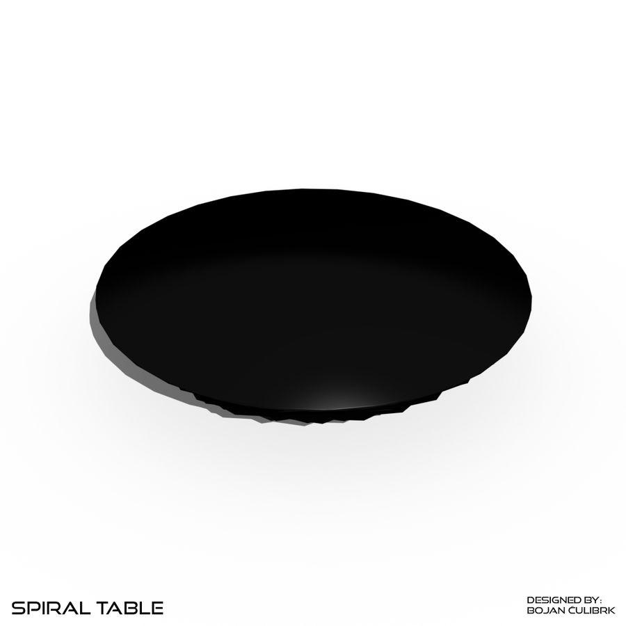 Table en spirale en cristal royalty-free 3d model - Preview no. 6