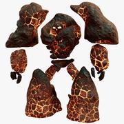 Golem di pietra elementale 3d model