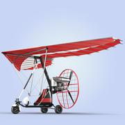 Motor Trike Hang Glider 3d model