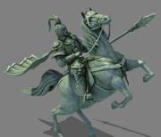ridande general Commander statyhäst 3d model