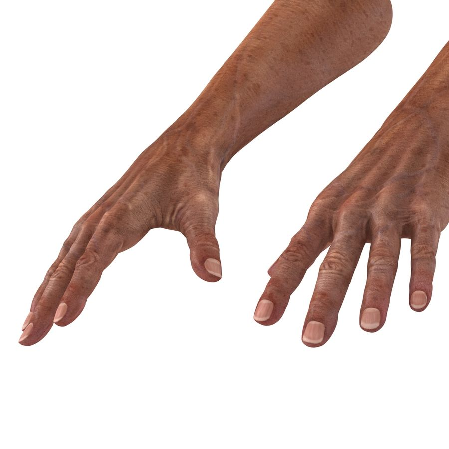 Old Man Hands 3D Model royalty-free 3d model - Preview no. 11