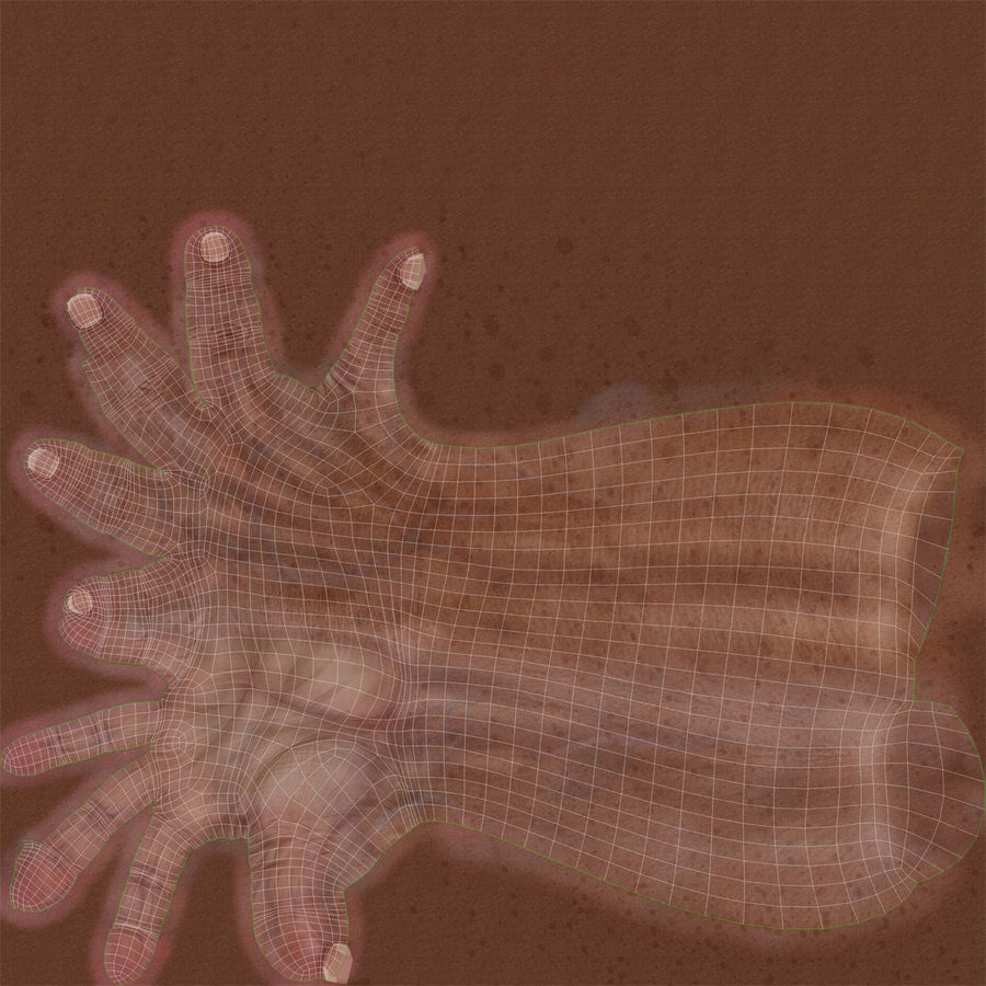 Old Man Hands 3D Model royalty-free 3d model - Preview no. 20