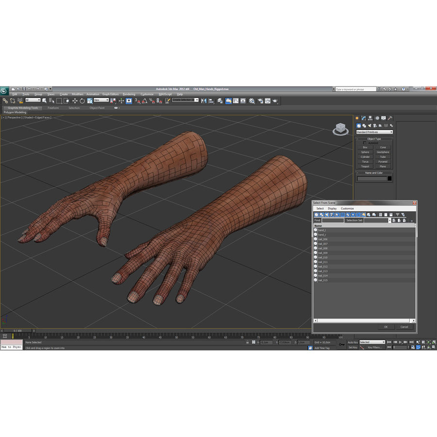 Old Man Hands 3D Model royalty-free 3d model - Preview no. 22