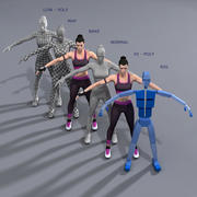 Athlete female 3d model