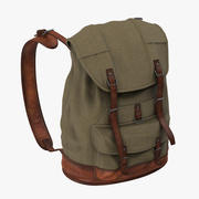 Travel Backpack Standing 02 3d model