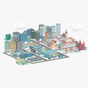 Tecknad stad 3d model