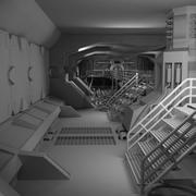Sci Fi Interiör 3d model