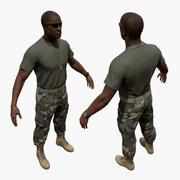美国陆军巡逻士兵 3d model