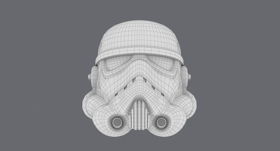 Star Wars hjälm set royalty-free 3d model - Preview no. 13