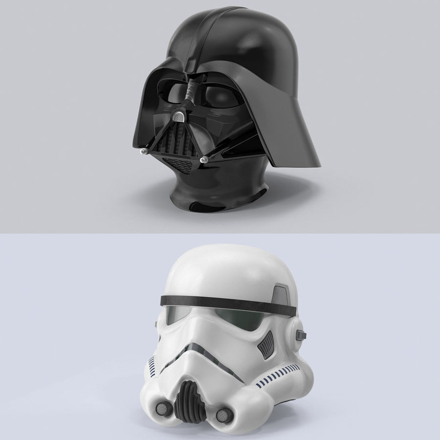 Star Wars hjälm set royalty-free 3d model - Preview no. 1