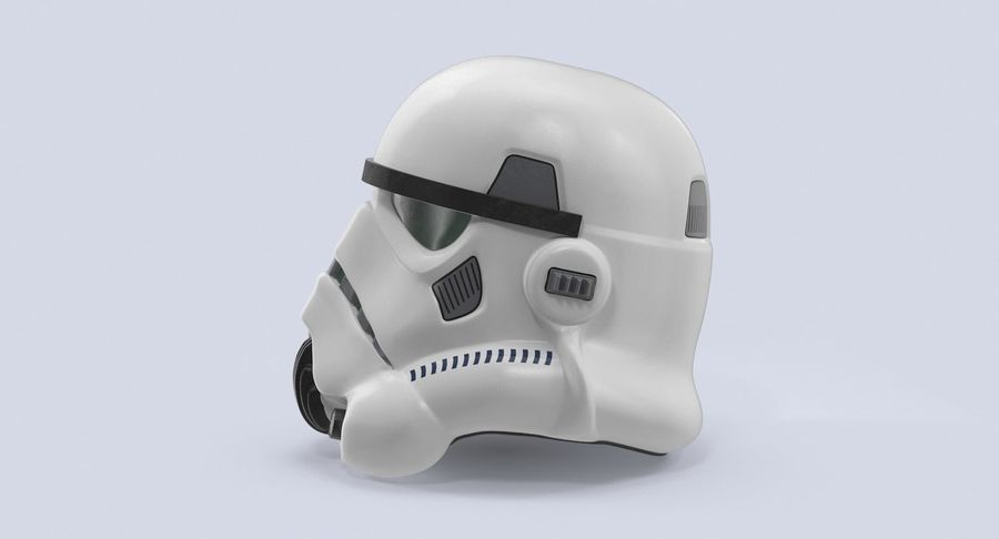 Star Wars hjälm set royalty-free 3d model - Preview no. 10