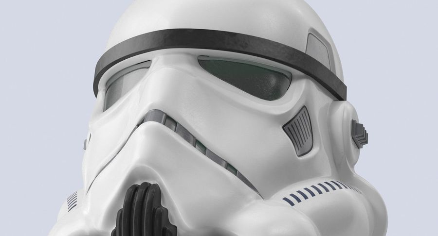 Star Wars hjälm set royalty-free 3d model - Preview no. 12