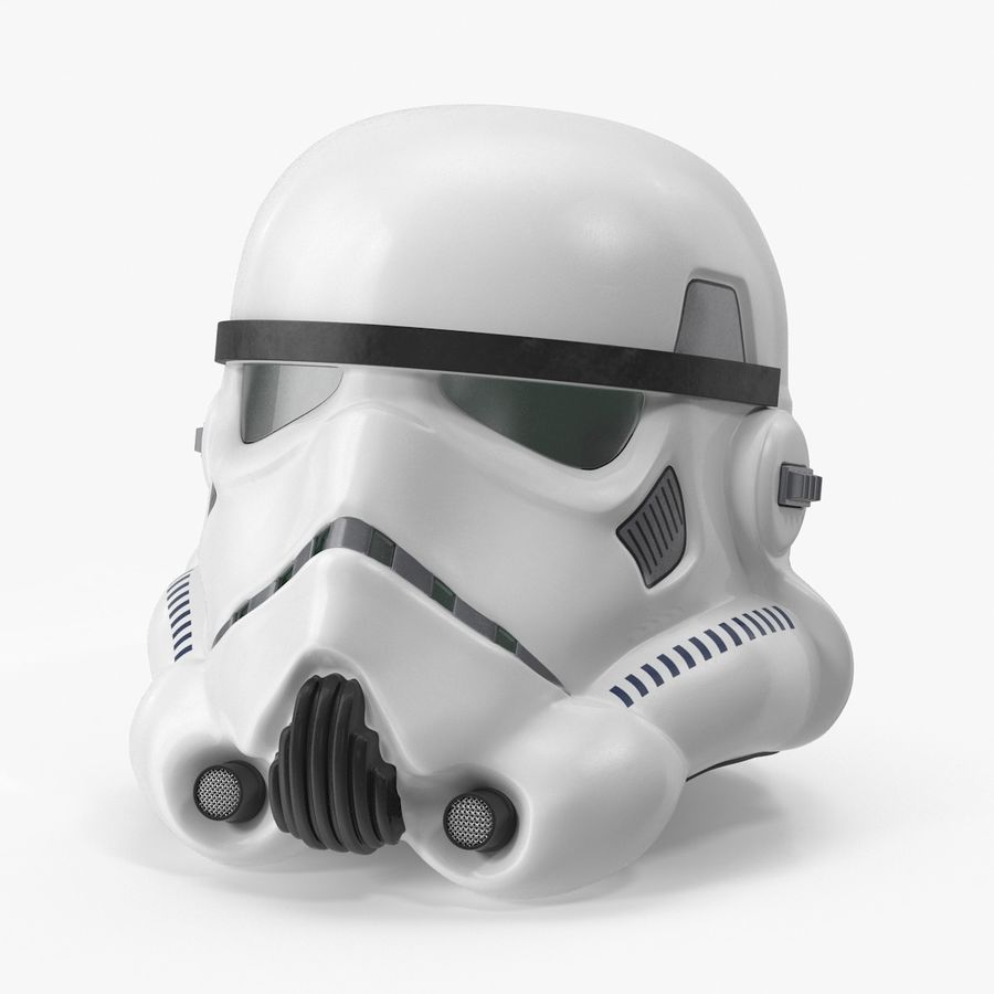 Star Wars hjälm set royalty-free 3d model - Preview no. 8