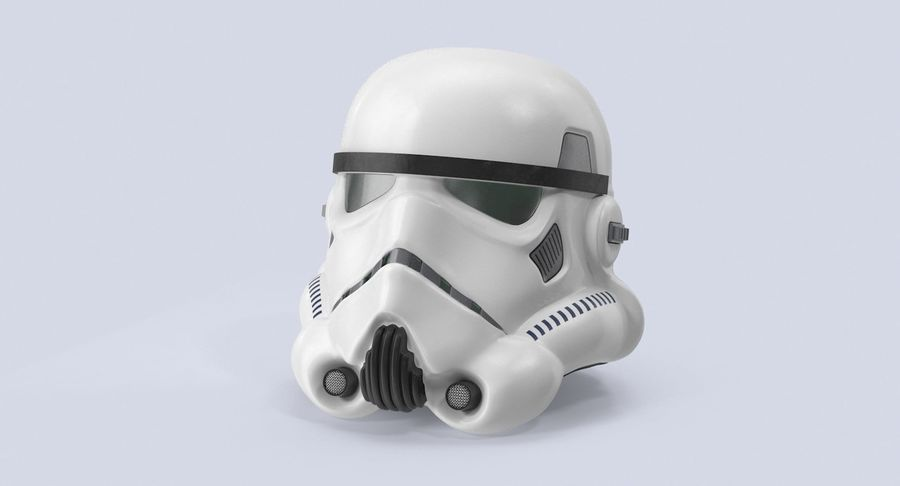 Star Wars hjälm set royalty-free 3d model - Preview no. 9