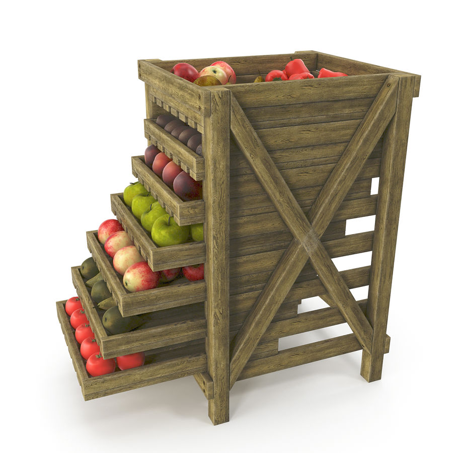 Fruit Box royalty-free 3d model - Preview no. 3