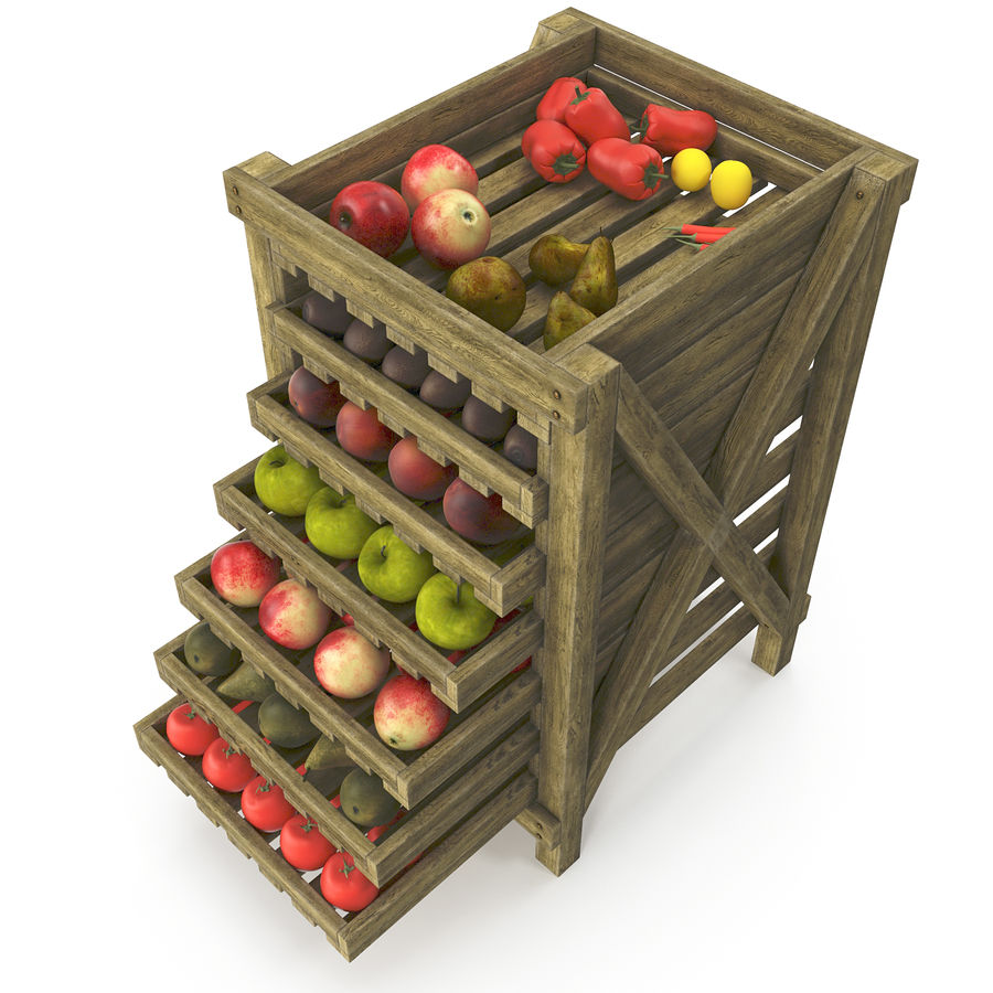 Fruit Box royalty-free 3d model - Preview no. 5