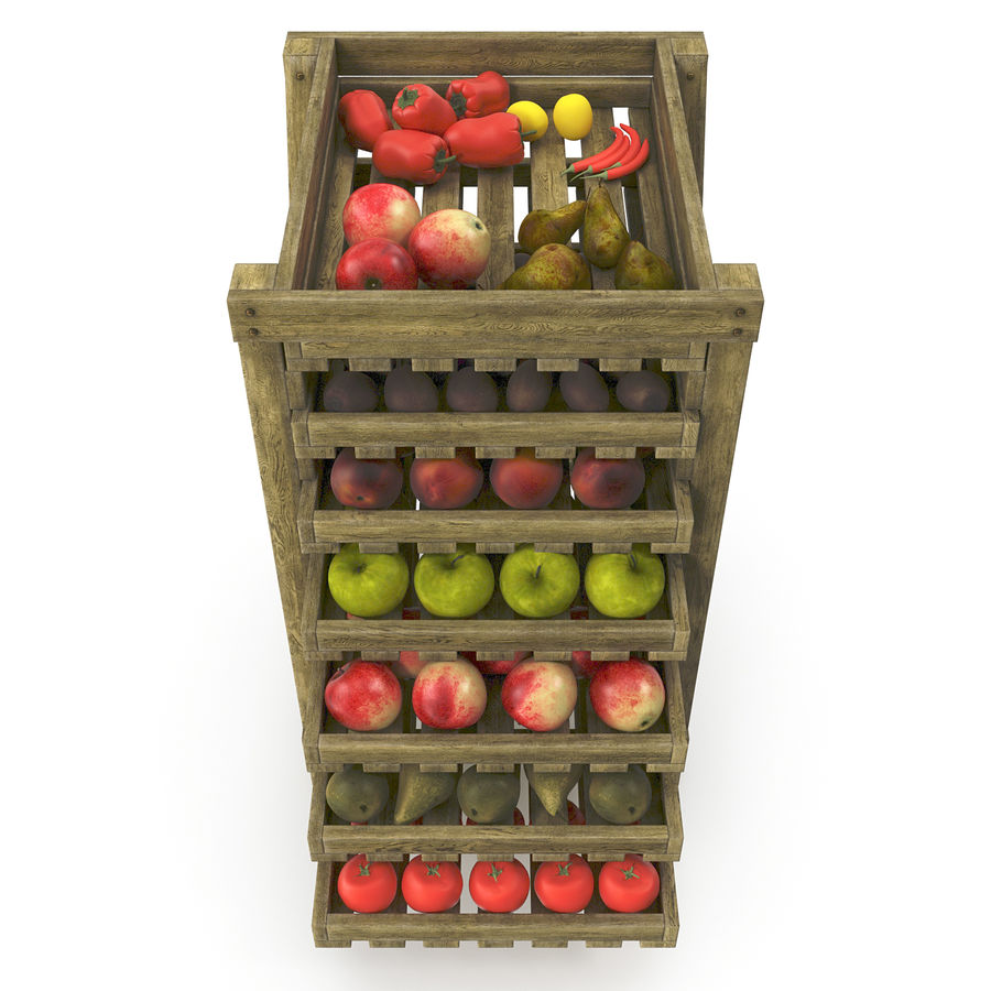 Fruit Box royalty-free 3d model - Preview no. 4