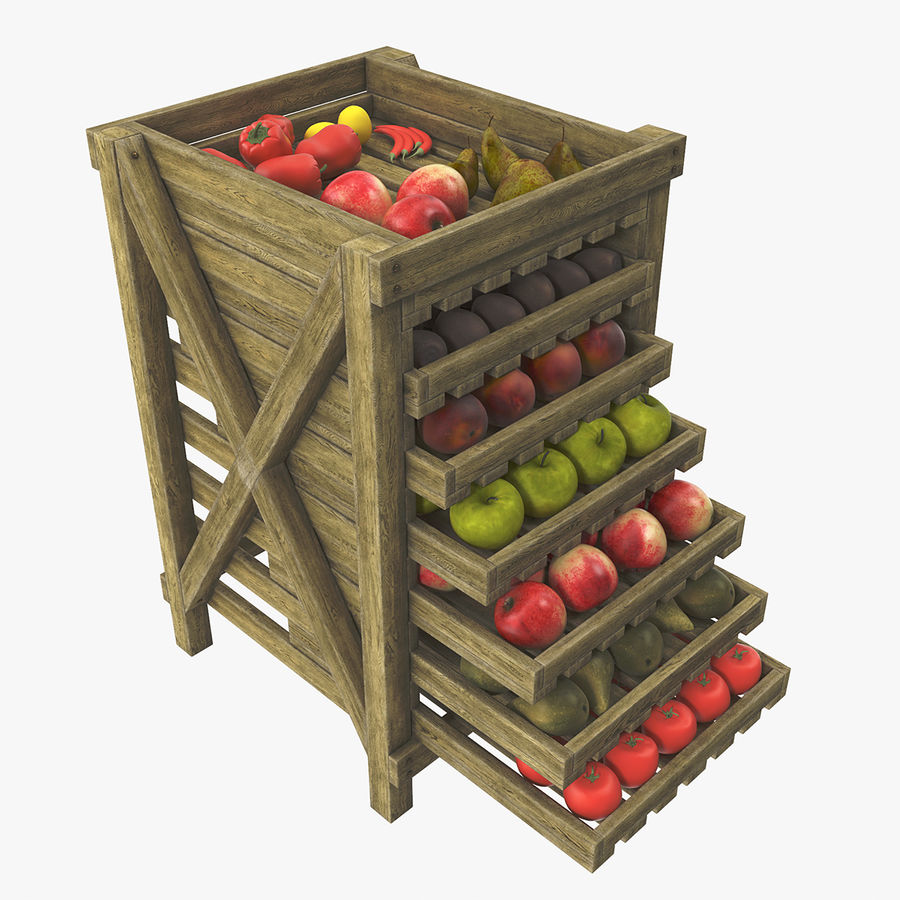 Fruit Box royalty-free 3d model - Preview no. 1