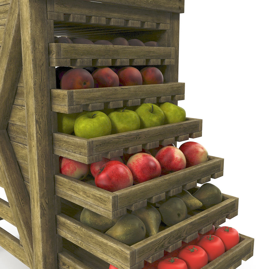 Fruit Box royalty-free 3d model - Preview no. 7