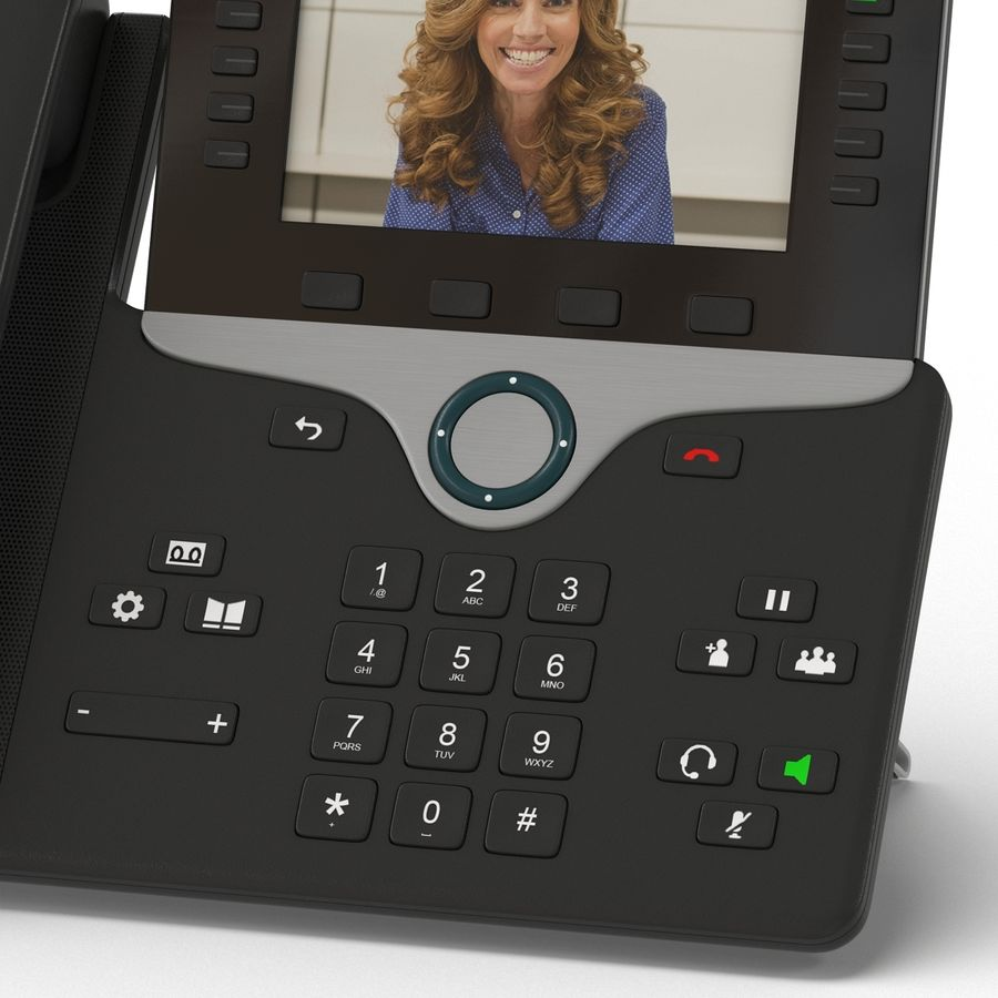 Telefone IP Cisco 8865 royalty-free 3d model - Preview no. 9